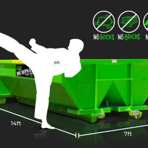 10-Yard Dumpster Rental by Junk Control of Las Vegas and Henderson, NV