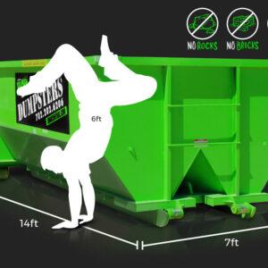 15-Yard Dumpster Rental by Junk Control of Las Vegas and Henderson, NV