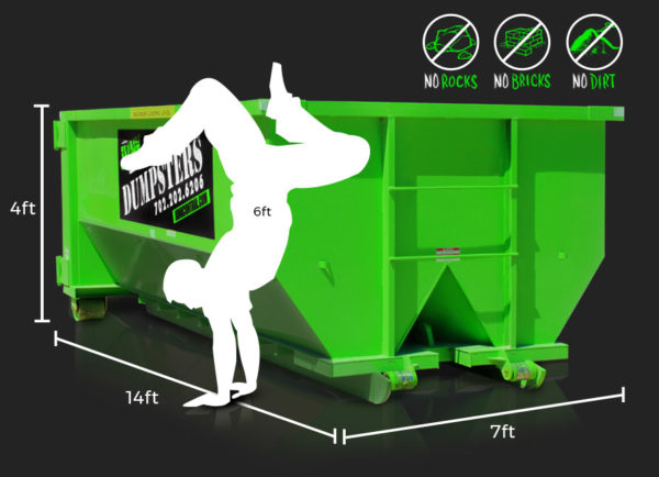 15-Yard Dumpster Rental by Junk Control of Las Vegas and Henderson, NV