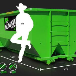 20-Yard Dumpster Rental by Junk Control of Las Vegas and Henderson, NV