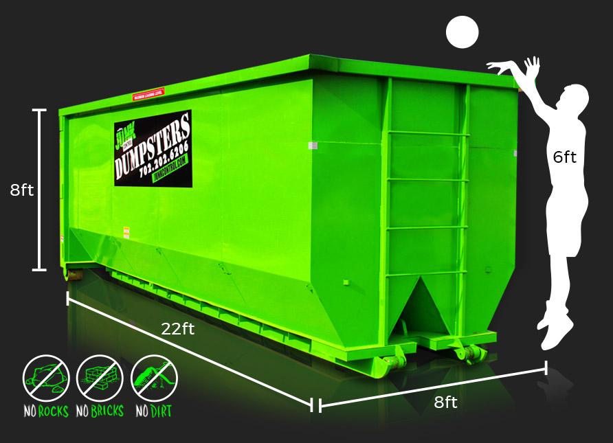 40-Yard Dumpster Rental by Junk Control of Las Vegas and Henderson, NV