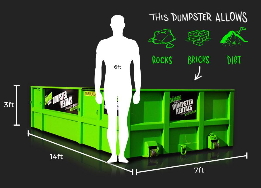 Lowboy Dumpster Rental by Junk Control of Las Vegas and Henderson, NV